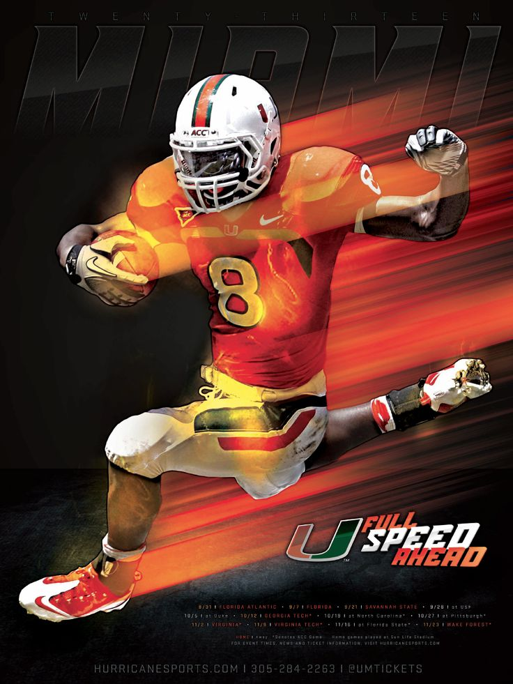 2013 Miami Football Schedule Poster Concept