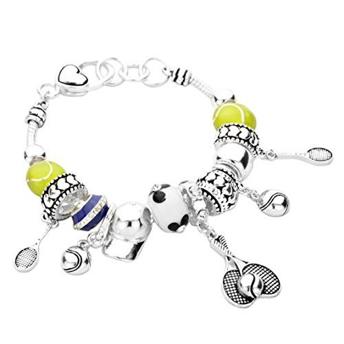 Tennis Anyone? Style Bead Bracelet