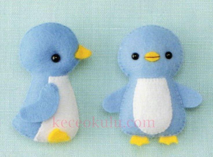 Sweet Penguins felt pattern