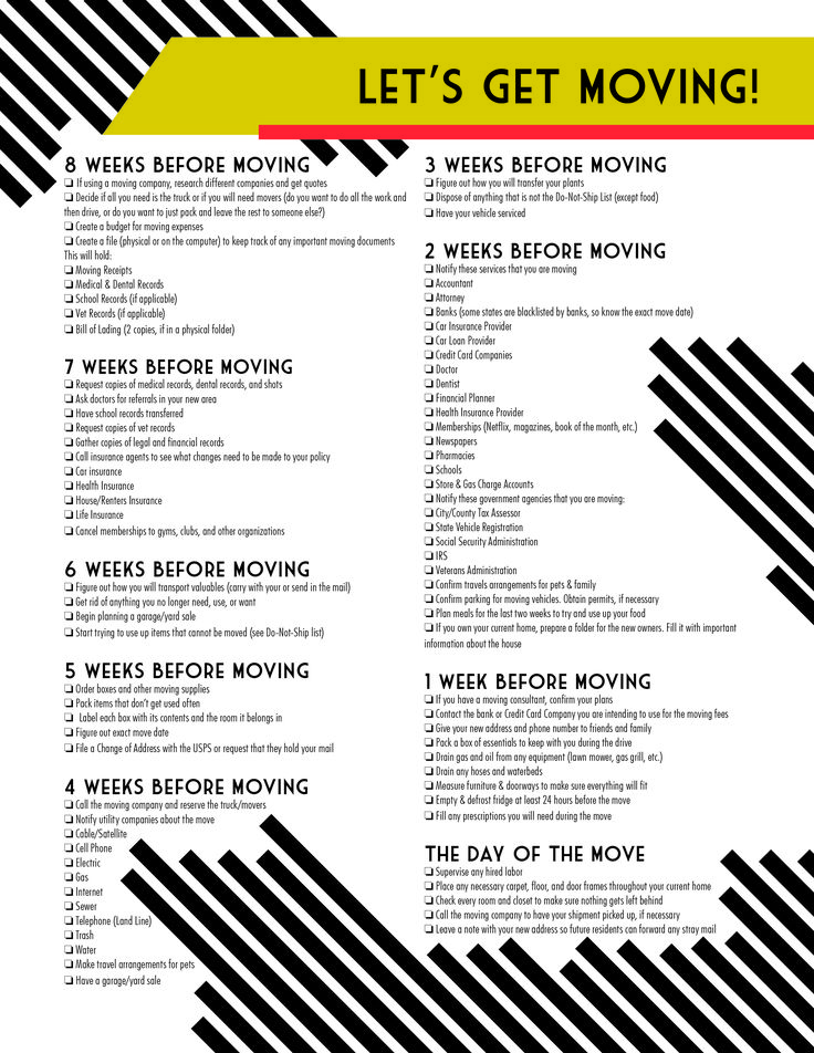 7 best lets get moving images on pinterest carriage house free moving checklist printable youve only got 8 weeks until the big move pronofoot35fo Choice Image