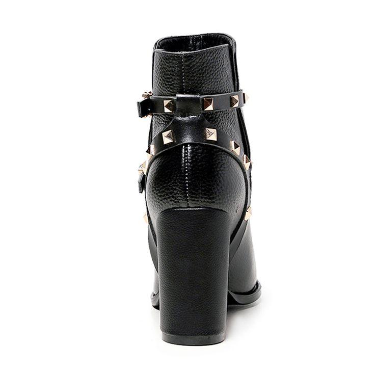 QMN натуральная кожа женщины ботильоны Женская Мода На Высоких Каблуках Черные сапоги Зимние Замшевые Сапоги, Обувь Женщина Ботильоны Botas Размер 34-39