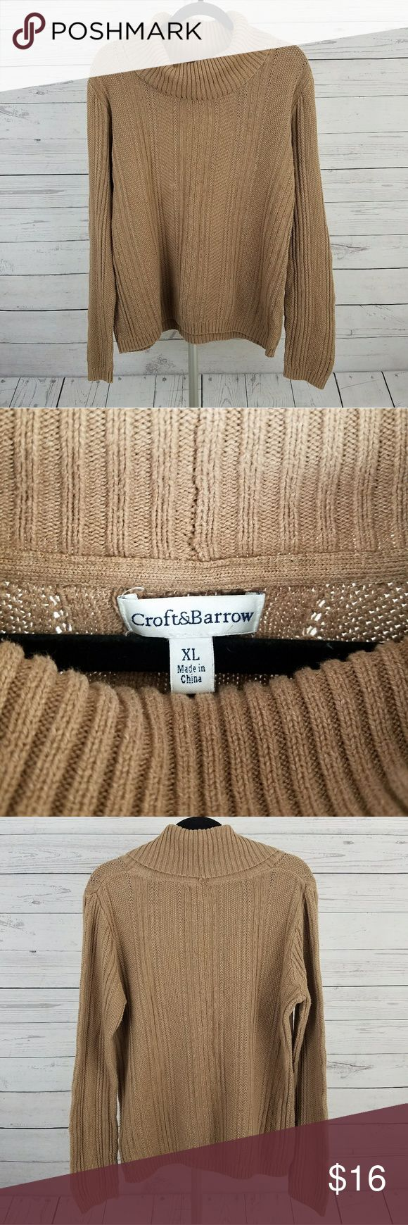Women's Croft & Barrow Cowl Neck Sweater Size XL This is a women's Croft & Barrow cowl neck sweater in size XL.  *60% Cotton, 40% Acrylic Croft & Barrow Sweaters Cowl & Turtlenecks