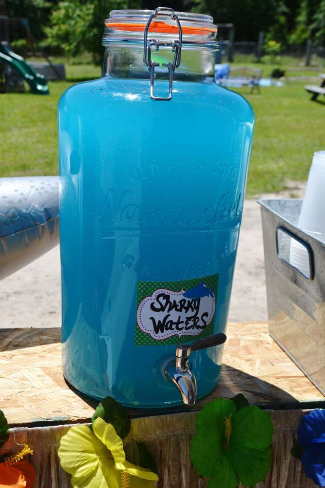 Surfin' Shark Party - Sharky Waters Drink ~ For more pics of this party visit http://catchmyparty.com/photos/2070066
