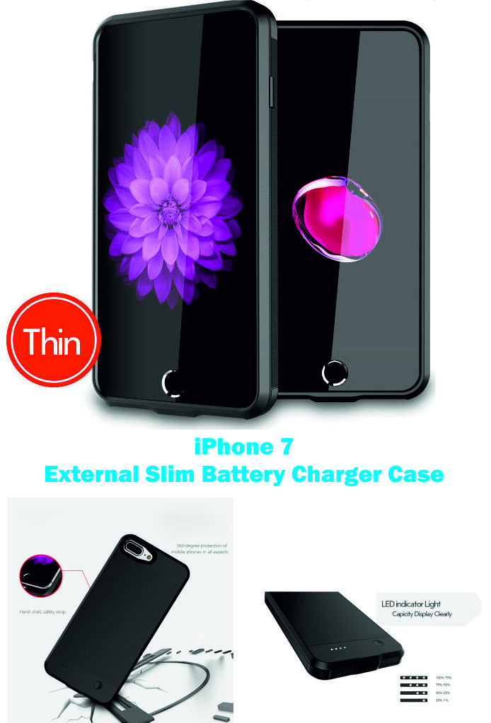 huge selection of e42fa 433d1 Details about iPhone 7 External Battery Slim Charger Case Power Bank ...