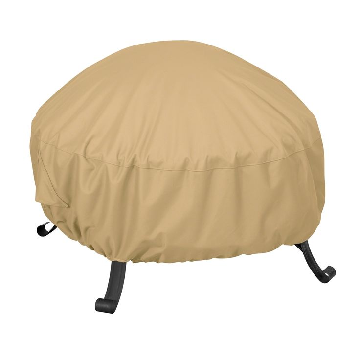 Classic Accessories Terrazzo® Full Coverage Round Fire Pit Cover - All Weather Protection Outdoor Cover, Small (59902-EC), Beige (Polyester), Patio Furniture