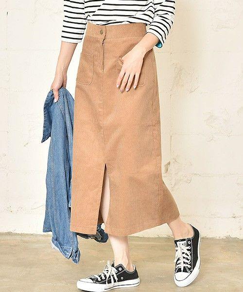 【ZOZOTOWN】coca(コカ)のスカート「フロントスリット入りコーデュロイスカート」(02-161101000-12)を購入できます。