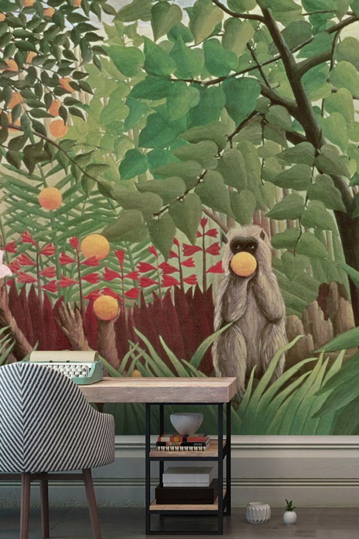 Nail the tropical trend in one move with this beautiful wallpaper originally painted in 1800's by Henri Rousseau.   This will be made to measure and supplied with free paste and free delivery*  Get 10% off your order with code SAVE10 at the checkout. Visit www.wallsauce.com to see the full collection.