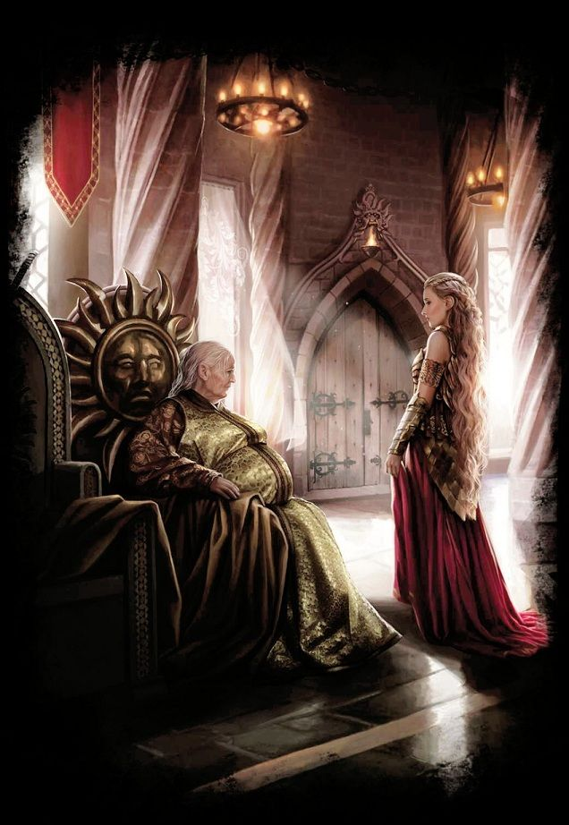 """Mariya Martell with Rhaenys — the promise to conquer Dorne with """"fire and blood"""" (didn't work out that great)"""