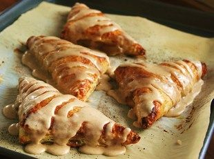 Puff Pastry Apple Pie Turnovers with Apple Spice Glaze
