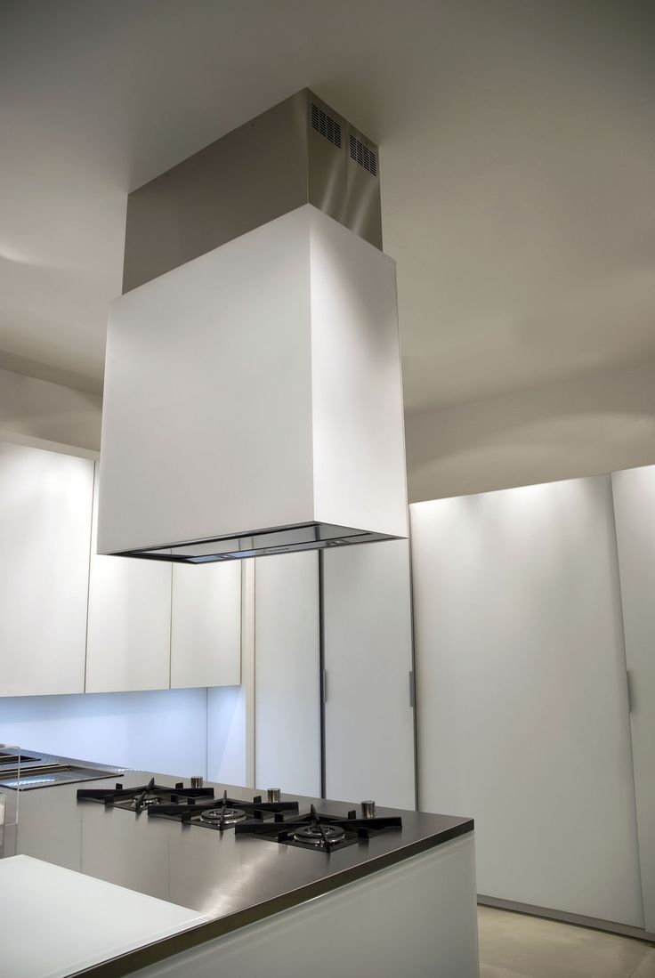 Wall-mounted extractor hood / island / with built-in lighting - DESIGN+ : LAGUNA - falmec