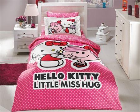 Hobby Tek Kişilik Lisanslı Nevresim Takımı Hello Kitty Pembe  #çocuk #nevresimtakımı #love #yatakodası #nevresim #hellokitty #dekorasyon #interiordesign #countrydesign