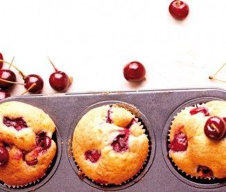 Cakes aux cerises et au miel de cerisier