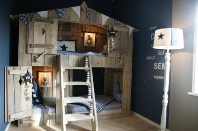 wood bed house