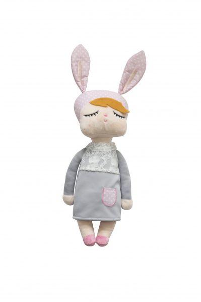 Miniroom   Kanindocka Little Rabbit Puppe - Grau