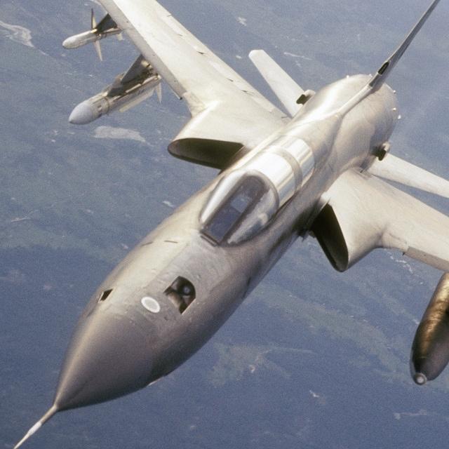 "Republic F-105 ""Thunderchief"" aerial refueling."