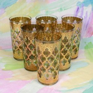 Vintage Drinking Glasses eclectic glassware~ I had these. My aunt gave them to me as a wedding present 1965