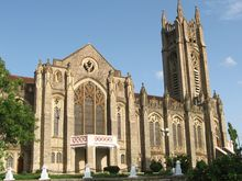 The Medak Cathedral of Church of South India is the largest Cathedral Church in India