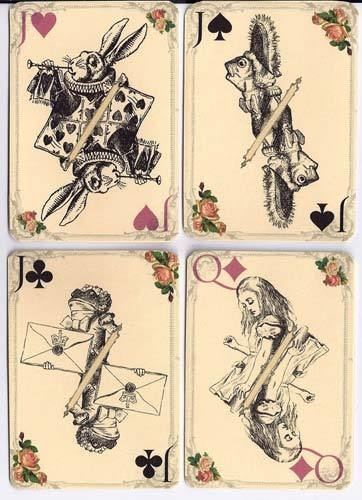"""""""Vintage inspired Alice in Wonderland playing cards"""""""