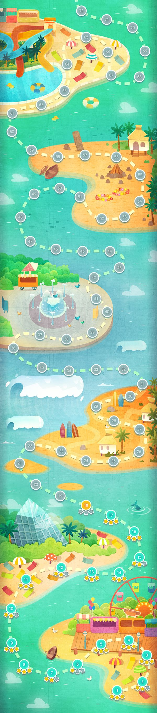 Graphic and UI design for mobile game More