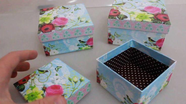 Набор подарочных коробок из 3шт  Квадрат голубая Артикул 12975 6