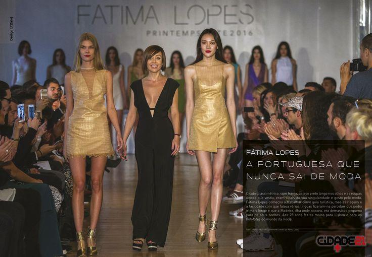 Fátima Lopes, uma das mais icónicas estilista e consagradas criadoras de moda da Europa.