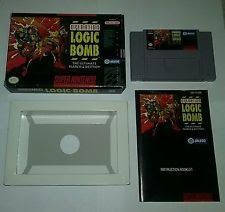Operation Logic Bomb For Super Nintendo Entertainment System SNES Complete Rare