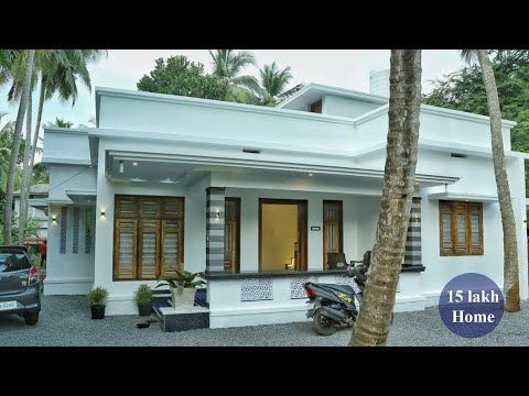 Eye Catching Budget Single Story Home For 15 Lakh Video Tour Youtube In 2020 House Balcony Design One Storey House Small House Elevation Design