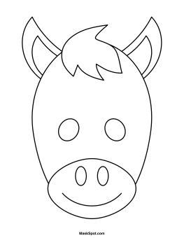 Printable Donkey Mask to Color                                                                                                                                                                                 Mais