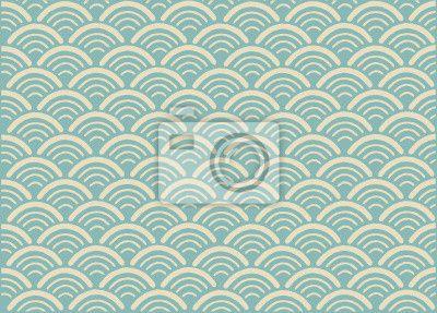 """Stickers """"antiquité, nippon, tissu - traditionnelle japonaise d'ornement pattern-seigaiha. format vectoriel"""" ✓ Un large choix de matériaux ✓ Nous adaptons le produit à vos besoins ✓ Regardez des opinions de nos clients !"""