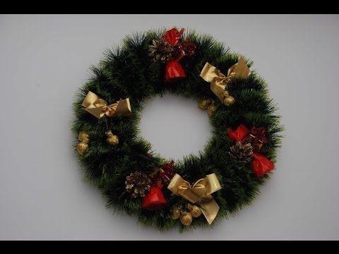 Рождественский венок своими руками. Handmade Christmas Wreath. - YouTube