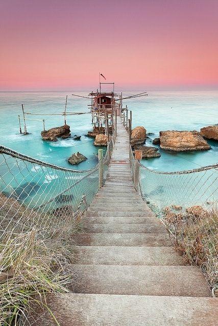The sea at the sunset in Vieste, Puglia! planning trip and info: guidaturistic@gmail.com VITO MAUROGIOVANNI