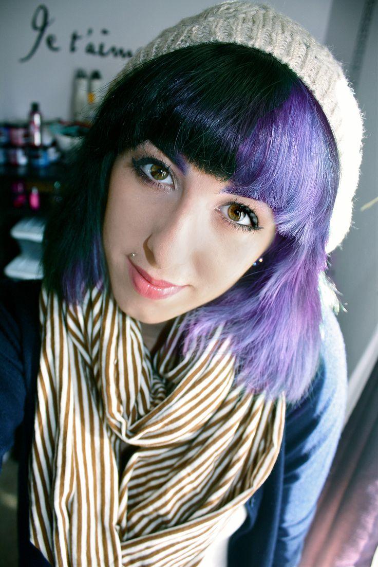 139 best half & half hair images on pinterest | colorful hair