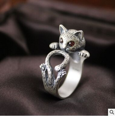 Cheap jewelry ring adjuster, Buy Quality ring holder jewelry directly from China jewelry ring holder Suppliers: 2016 new arrival high quality retro style cute cat Thai silver 925 sterling silver ladies`adjustable size rings jewelry gift