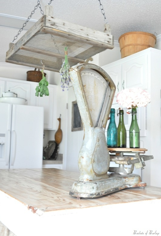157 best herb drying rack images on pinterest drying for Rustic kitchen scale