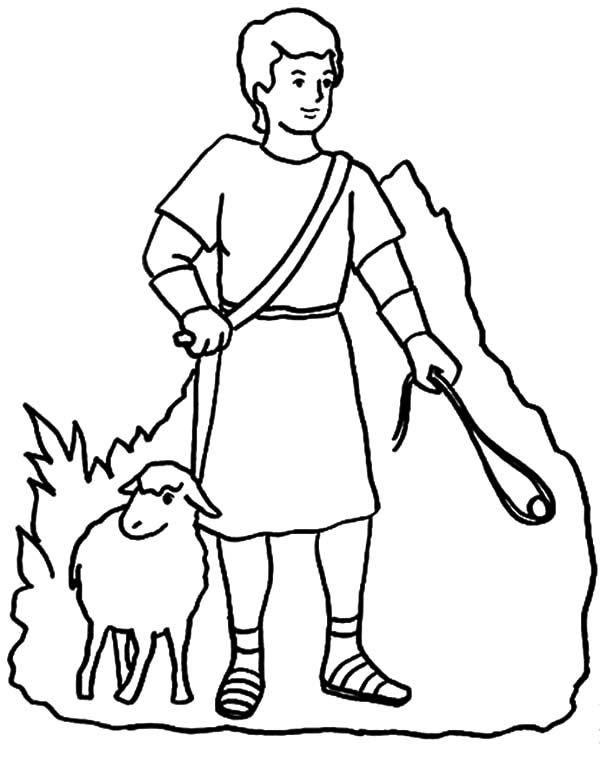 David The Shepherd Boy Drawing David The Shepherd Boy Coloring Pages Coloring Pages For Boys Boy Coloring Sunday School Coloring Pages
