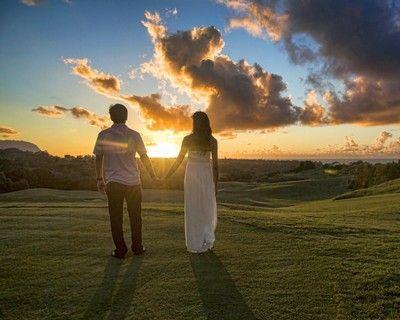 #couple dans un paysage #romantique