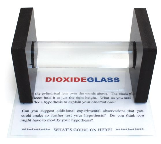 KIT: Refraction - Place the cylindrical lens over the puzzle sheet and explain the results.