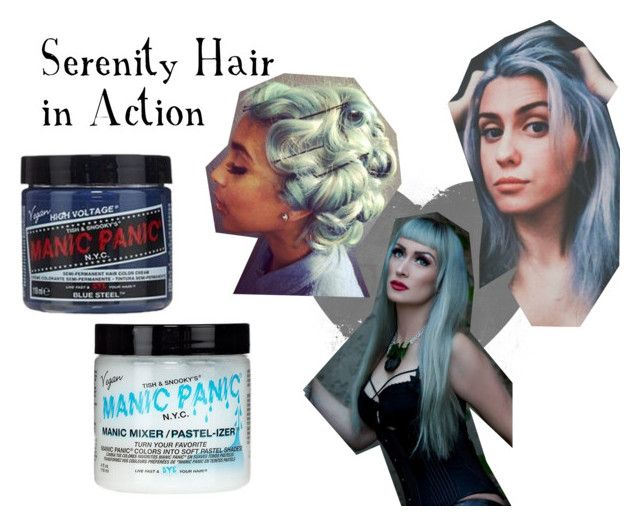 """Serenity Hair"" by manic-panic-uk ❤ liked on Polyvore featuring beauty and Manic Panic NYC"