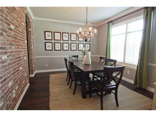 Amazing Dining Room With DIY Brick Veneer On The Wall From Story Of My