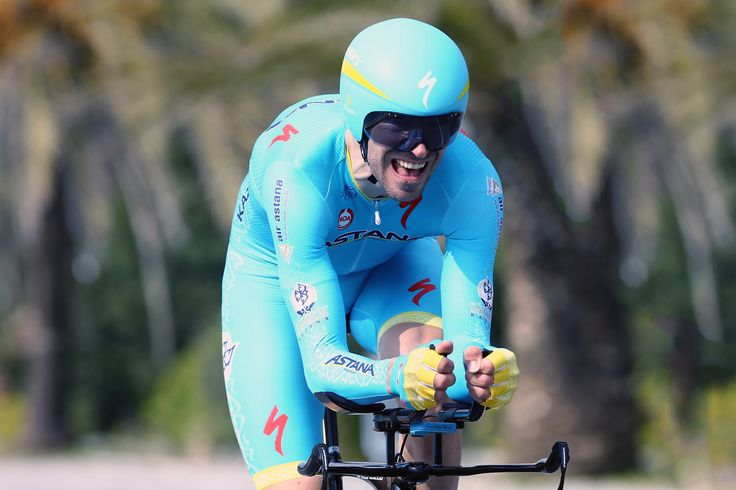 Alessandro Vanotti wear his body during Tirreno-Adriatico's final time trial.