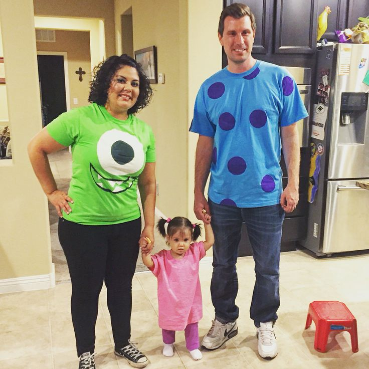 diy monsters inc family costume - Simple And Creative Halloween Costumes