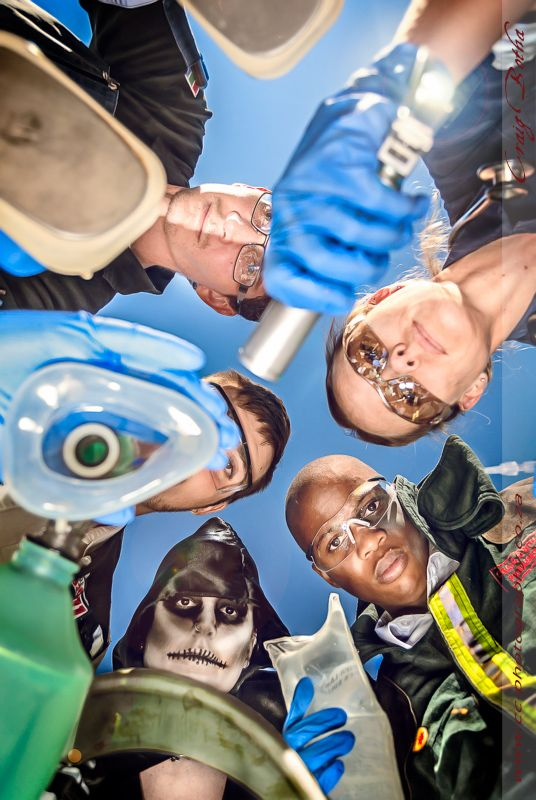 A slightly obscure and ironic look at the job of a paramedic. Taking some on the sadistic and irony's and putting them into a photograph.  A special thanks to Vikki Pretorius; Louis du Plessis; Quinton Nel; Asavela Mkosi; Stacie jansen van Vuren; Phila Dyasi; Julian Plumbly for making this photoshoot possible.  Photographer: Craig Botha Photoshop Artist: Craig Botha www.cc-photography.co.za (C)2010 CC Photography, all rights reserved.