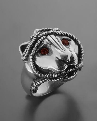 Ανδρικό χειροποίητο δαχτυλίδι πάνθηρας