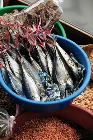 Fish market in Thailand.