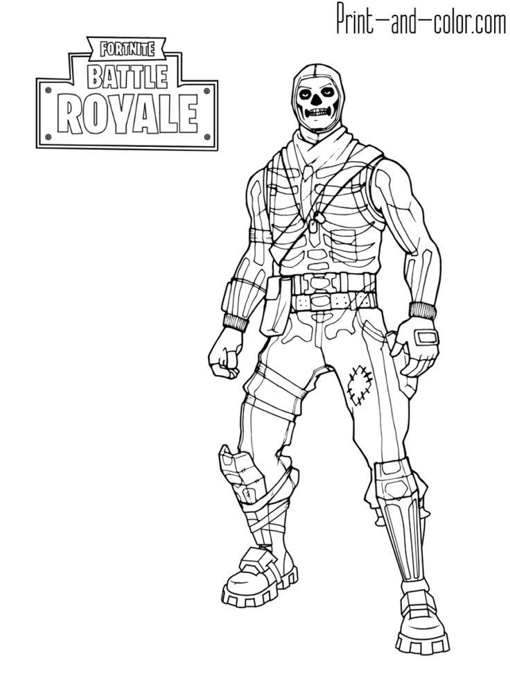 Fortnite battle royale coloring page Skull Trooper
