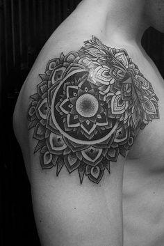 masculine mandala tattoo - Google Search                                                                                                                                                      Plus