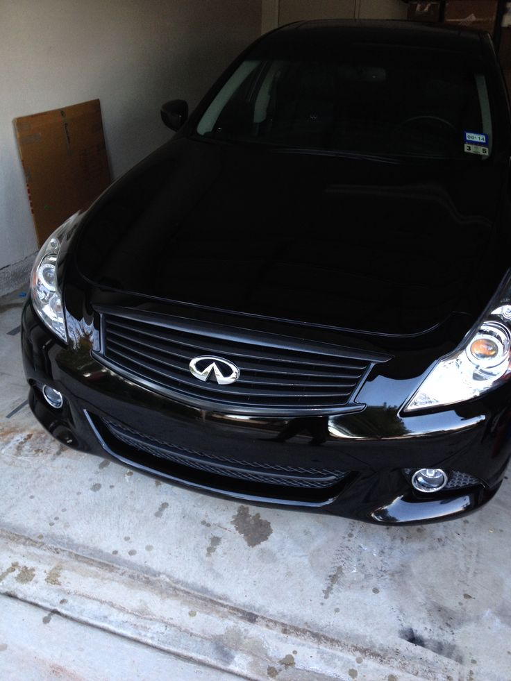Infiniti G37 Grill blacked out with Plasti Dip and ...