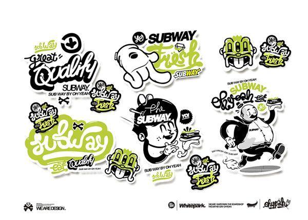 Subway By Mgng Via Behance Graffiti Illustration Sticker Design Sticker Art