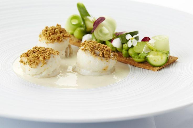 Een overheerlijke pladijs, gestoomd op zeealgen met een vichyssoise van mechelse asperges, die maak je met dit recept. Smakelijk!