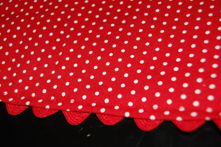 Just thought I'd share how I put rickrack on a hem. It can be a cute touch to a skirt, dress or pants. I just finished up M's little skirt t...